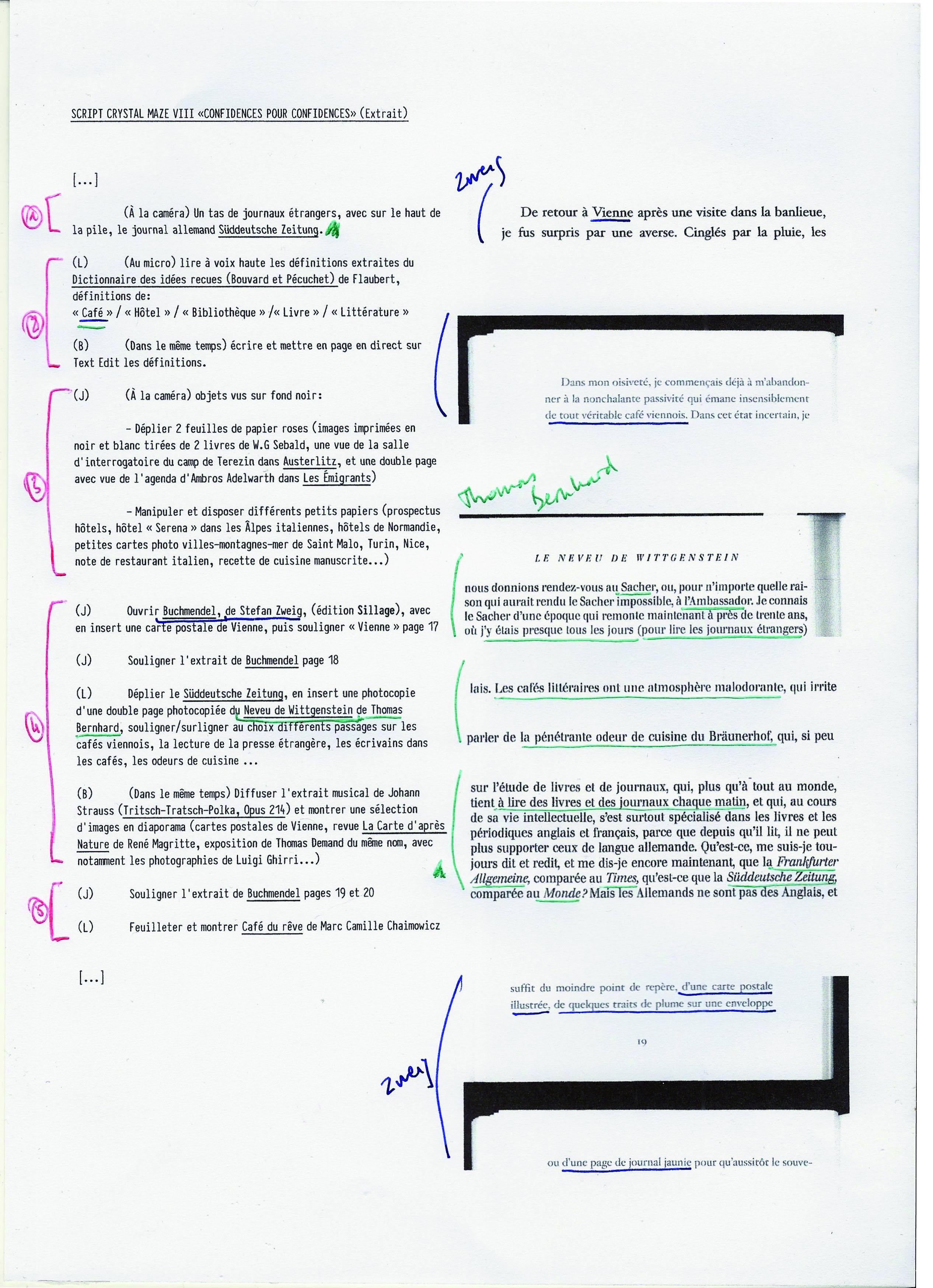 Detail du script pour la revue Initiales